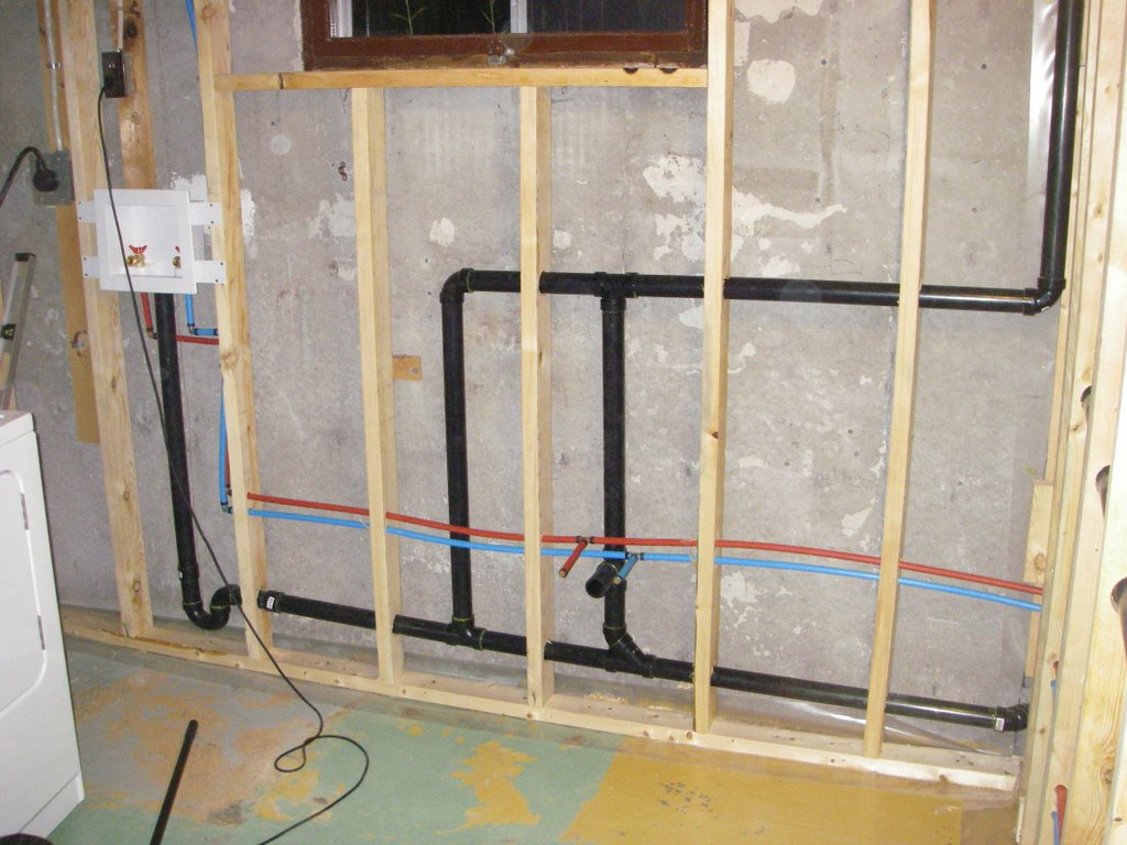 Bathroom rough in greg maclellan for How to plumb a basement bathroom
